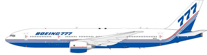 Boeing 777-200 N7771 House Colors (1:200)