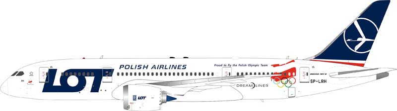 "LOT Polish Airlines Boeing 787-8 Dreamliner SP-LRH ""2018 Olympic Winter Games Livery"" (1:200) - Preorder item, Order now for future delivery"