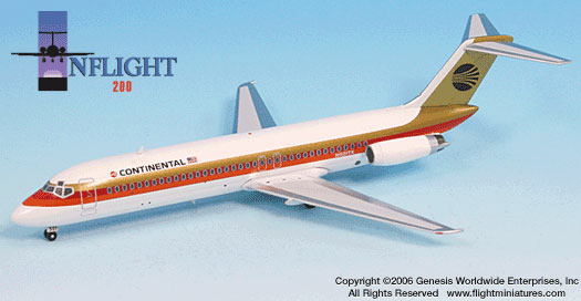 Continental DC-9-32 Black Meatball (1:200)