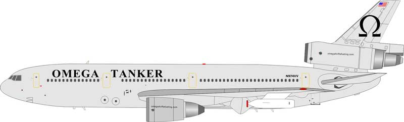 Omega Tanker DC-10-40 N974VV (1:200) - Preorder item, Order now for future delivery