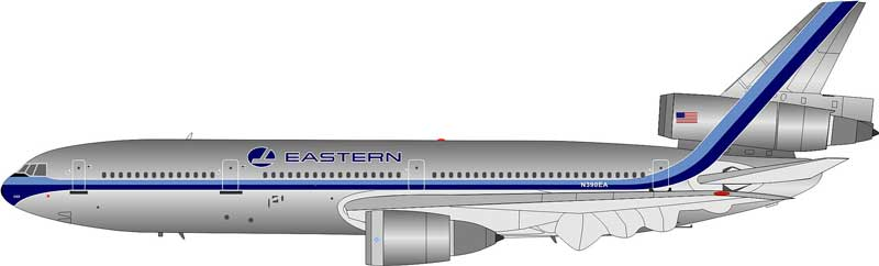 Eastern Air Lines DC-10-30 N390EA Polished (1:200) - Preorder item, Order now for future delivery