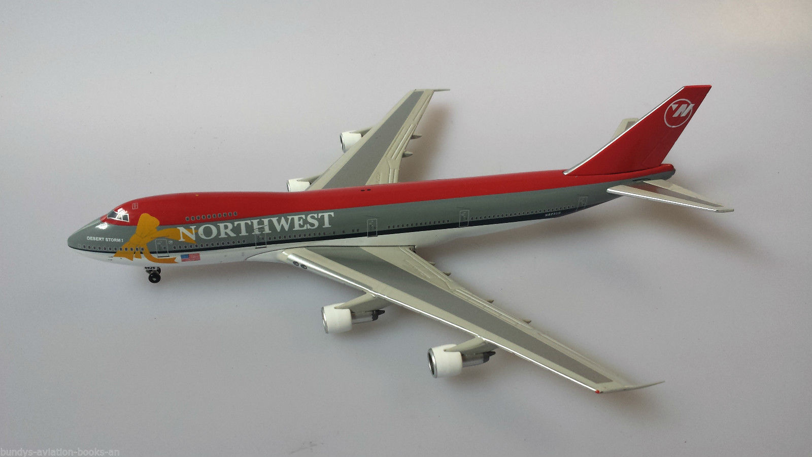 "Northwest B747-251B N625US ""Desert Storm - Yellow Ribbon"" (1:200) - Preorder item, order now for future delivery"