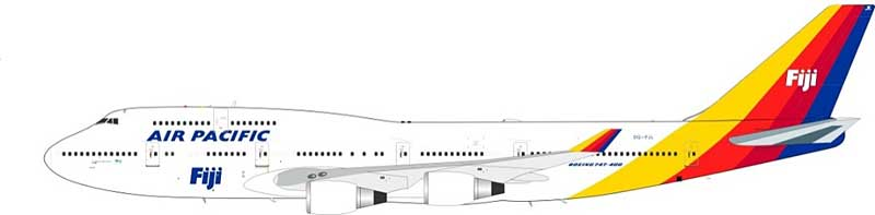 Air Pacific Boeing 747-400 DQ-FJL (1:200) - Preorder item, Order now for future delivery