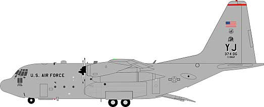 US Air Force Lockheed C-130 74-2062 (1:200) - Preorder item, Order now for future delivery