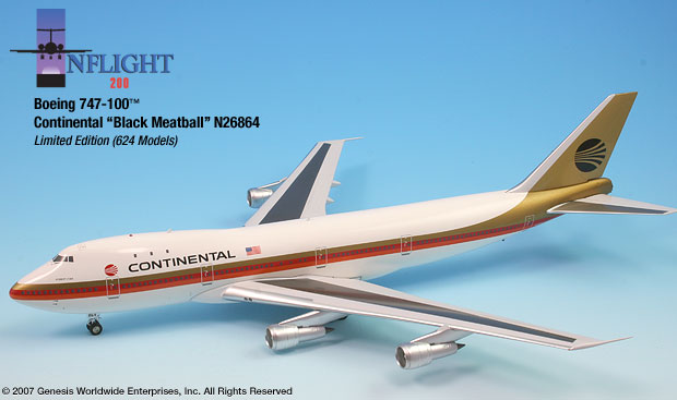"Continental 747-100 ""Black meatball"" (1:200)"