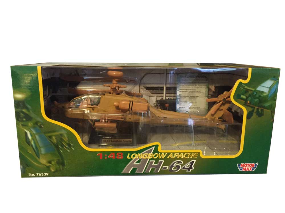 AH-64 Apache Helicopter (1:48) - Desert Tan
