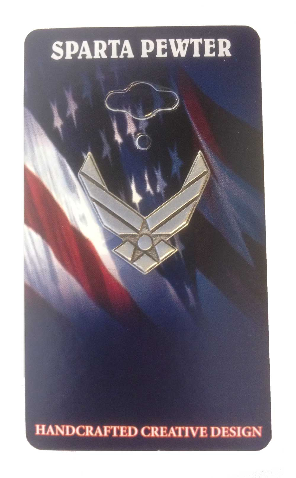 US Air Force Wings Pewter Lapel Pin / Tie Tack