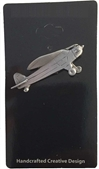Piper Cub Pewter Lapel Pin / Tie Tack