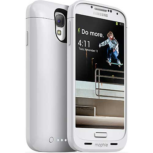 mophie Juice Pack for Samsung Galaxy S4, Whi