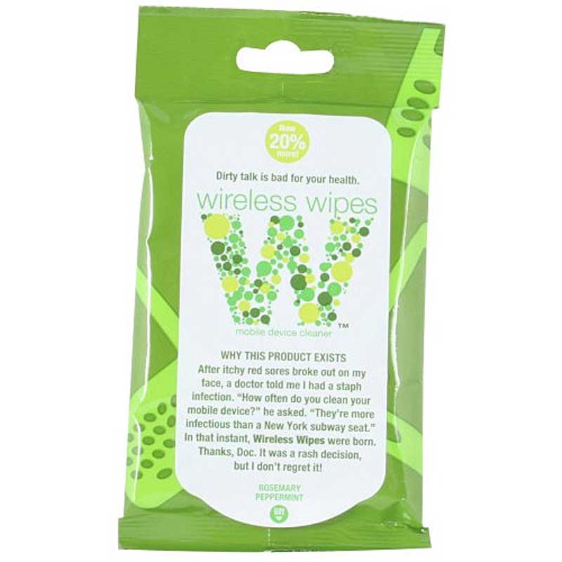 Wireless Wipes Rosemary Peppermint Scent