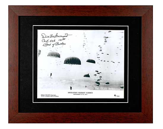 Operation Market Garden signed by Wild Bill Guarnere, Framed Photograph