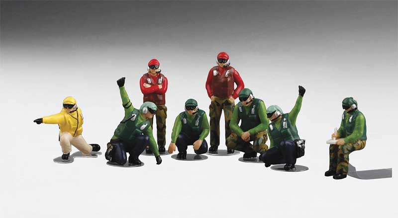 US Navy Deck Crew - Launch Team with 7 Figures (1:72)