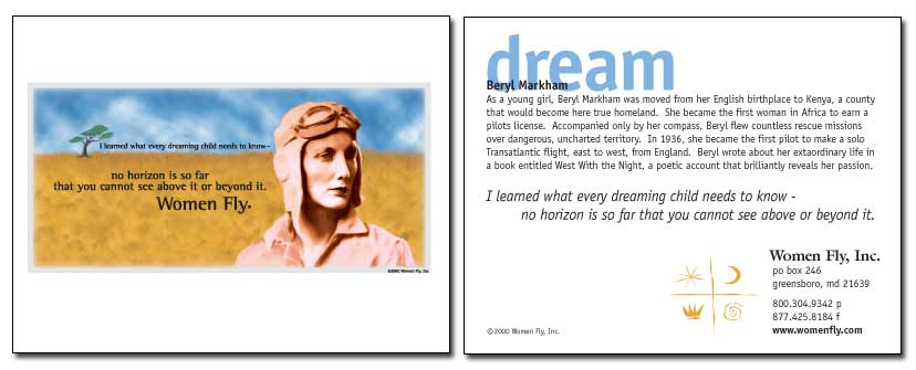 Beryl Markham / Passion - Women Fly Aviation Notecards - Pack of 8 Cards