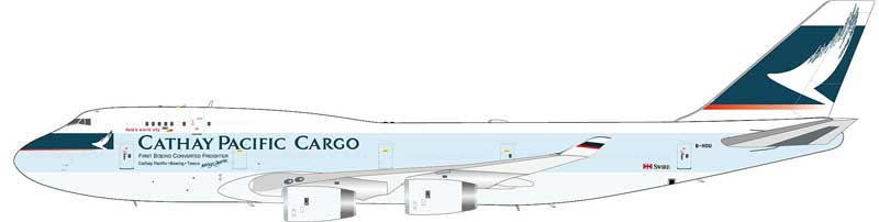 Cathay Pacific Airways Cargo Boeing 747-467(BCF) B-HOU (1:200)