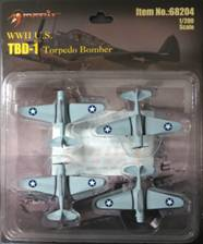 TBD-1 Devastator, Set of 4 (1:200) Includes decals