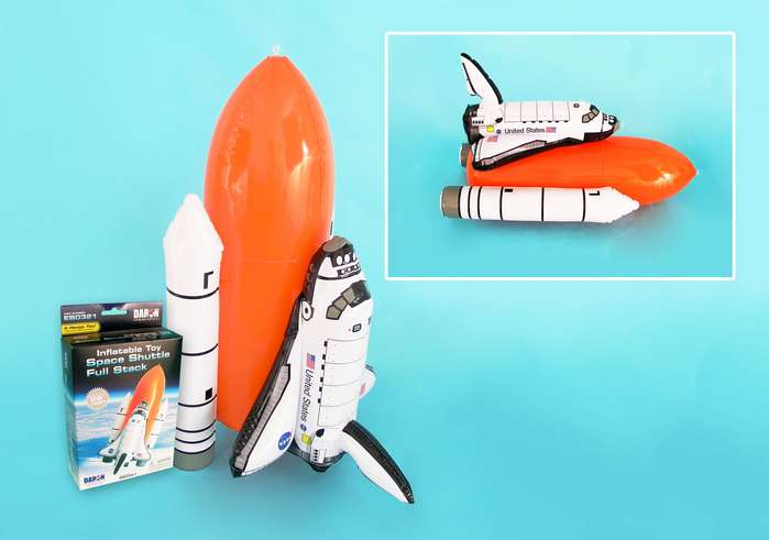 Inflatable Space Shuttle Full Stack with Rockets