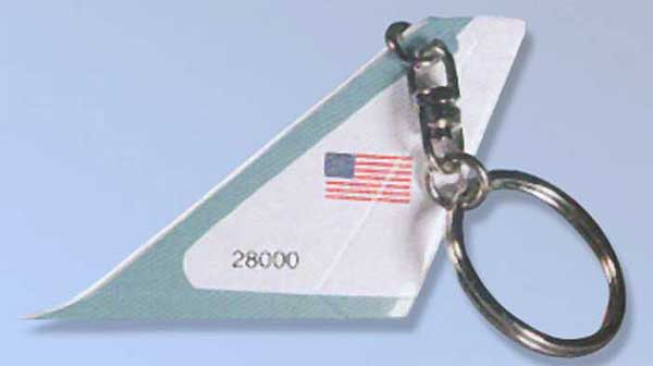 Air Force One Tail Keychain