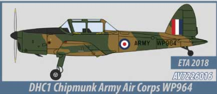 DHC1 Chipmunk, Army Air Corps  (1:72)  - Preorder item, order now for future delivery