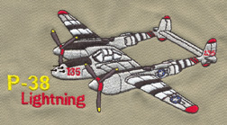 P-38 Lightning Embroidered Hat