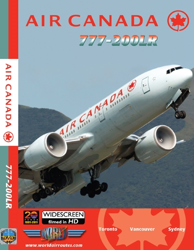 Air Canada 777-200lr ~C-Fivj (1:400) Plus! Air Canada 777-200LR DVD from Just Planes - GJACA1025V