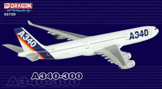 Airbus A340-300 with A380 Engine (1:400)