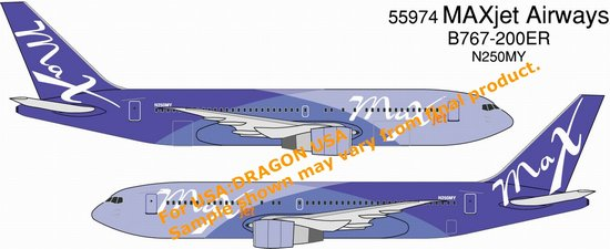 Maxjet Airways B767-200ER (1:400)