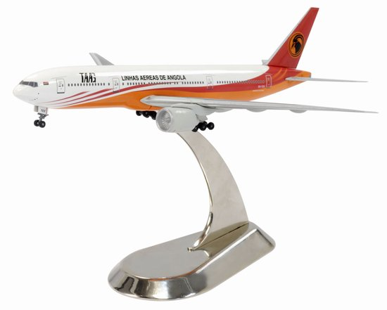 Angola Airlines 777-200 (1:400) W/ Metal Stand