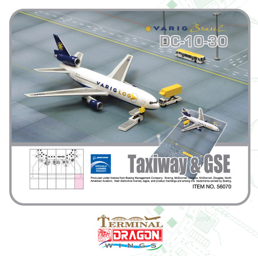 Varig Logistica DC-10-30F (1:400) with ground set