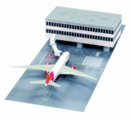Airport Terminal Section with Air India 777-200 (Straight Terminal Section) (1:400)