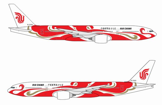 "Air China 777-200 ~ B2060 ""Red Phoenix"" (1:400)"
