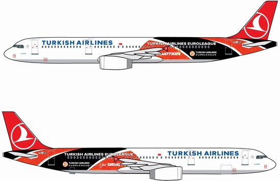 "Turkish Airlines A321 ""Turkish Airlines Euroleague"" ~ TC-JRO (1:400)"