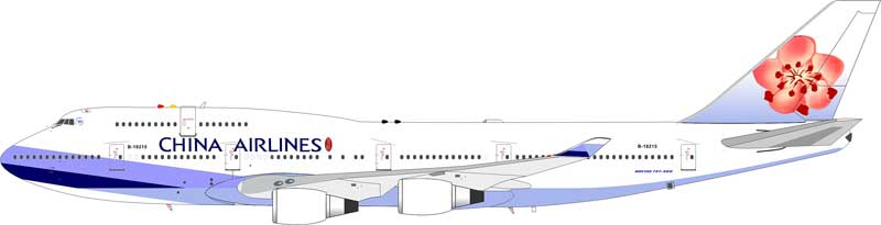China Airlines 747-409 B-18215 (1:200) - Preorder item, order now for future delivery