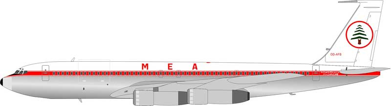 Middle East Airlines (MEA) 707-3B4C OD-AFB (1:200)
