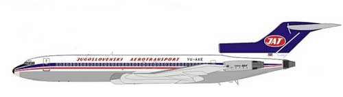 JAT Airways 727-200 ~YU-AKE (1:200) - Polished