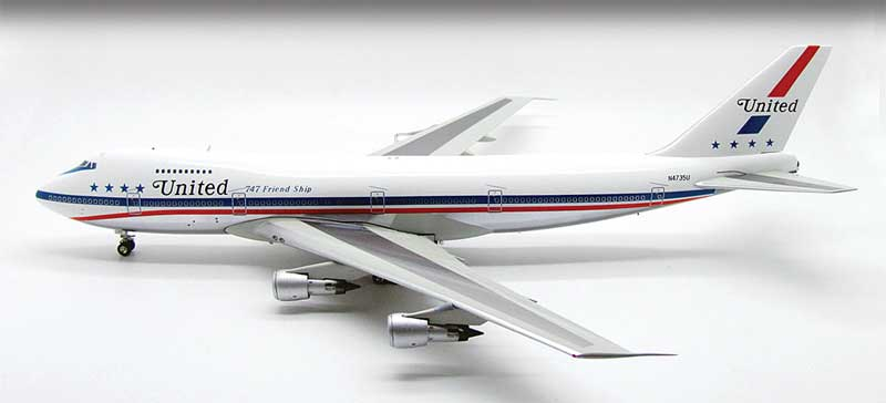 "United 747-100 ""Stars & Bars"" ~N4735U (1:200) Polished Belly"