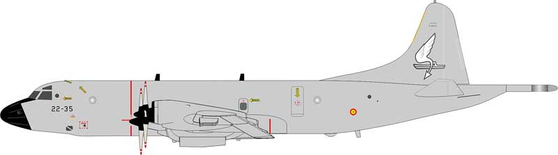 "Spanish Air Force P-3M Orion ""22-35"" (1:200)"