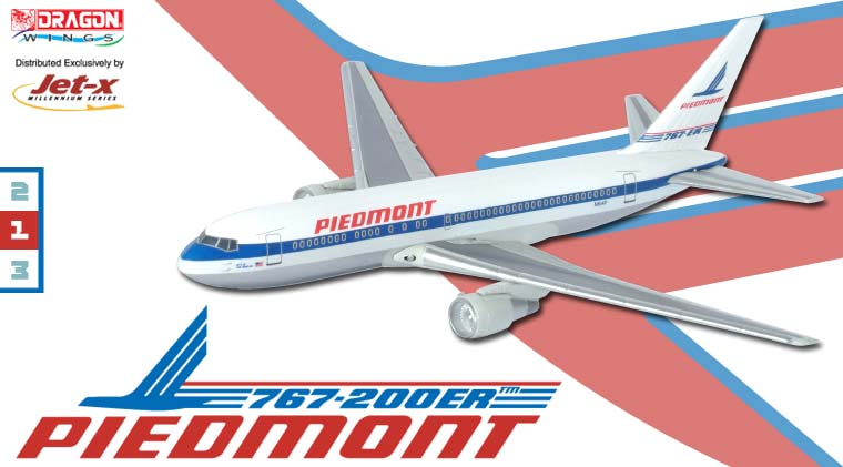 "Piedmont 767-200 ~ N614P ""City of Los Angeles"" - Fleet (1:400)"
