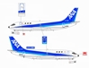 ANA 737-200 ~ JA8453, Polished (1:200)