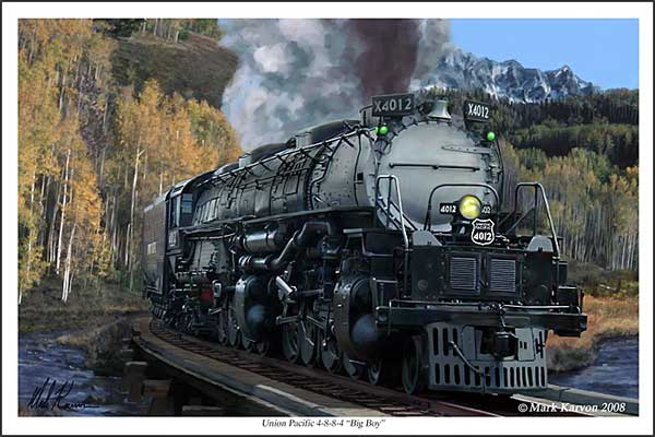 "UP Big Boy 4-8-8-4 ""Union Pacific Big Boy 4-8-8-4"" (Fine Art Print)"