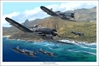 "F4-U Corsairs on Patrol ""Pirates of the Pacific"" (20"" x 30"" Limited Edition Print)"