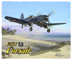 F4U T-Shirt  - Design by Aviation Artist Mark Karvon