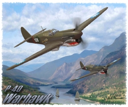 P-40 T-Shirt  - Design by Aviation Artist Mark Karvon