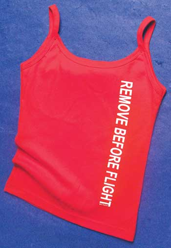 Ladies Remove Before Flight String T