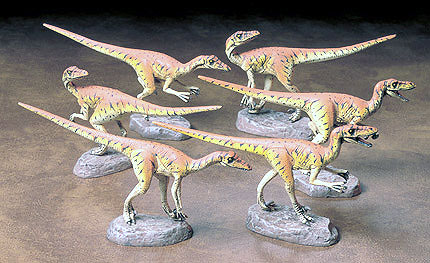 "Velociraptors Diorama Set- ""Pack of Six"""