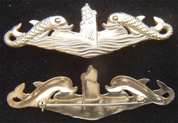 WWII Submarine Deep Wave HH Imperial Sterling H&H, Submarine, Imperial, Sub Badge, Sterling Sub, Submarine Badge