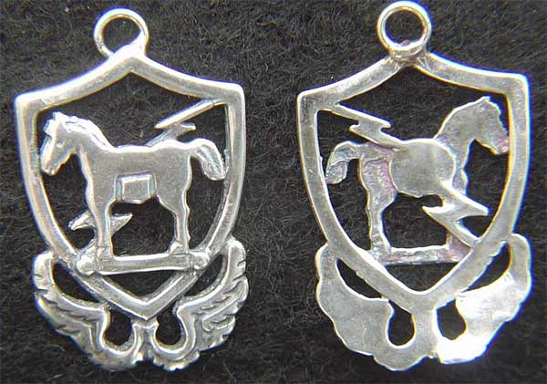 10th Special Forces 1950s beret badge Sterling Silver Charm Special Forces, 10th SF, SF