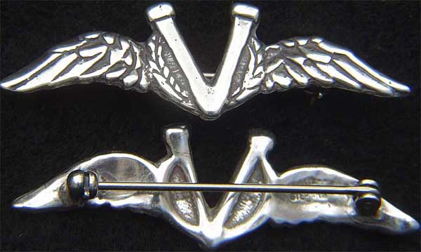 WWII V for Victory Wings Sterling Silver Victory Wings, Sweetheart jewelry, military jewelry