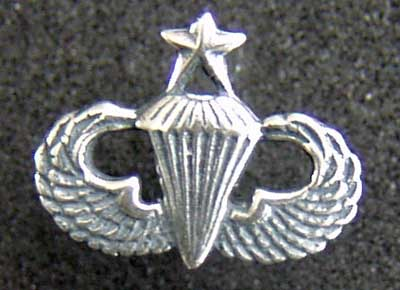 Senior Paratrooper Badge Charm Sterling Senior Paratrooper, Parachute, Sterling Charm