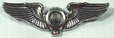 Balloon Observer Wings Sterling Army Air Service, Balloon wing, Balloon Observer Wing, Sterling wing, antique insignia, wing, balloon
