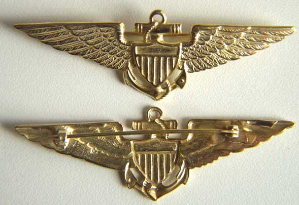 1926 Navy Pilots Wing Sterling w Gold